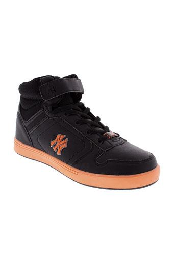 new york yankees chaussures garçon de couleur noir
