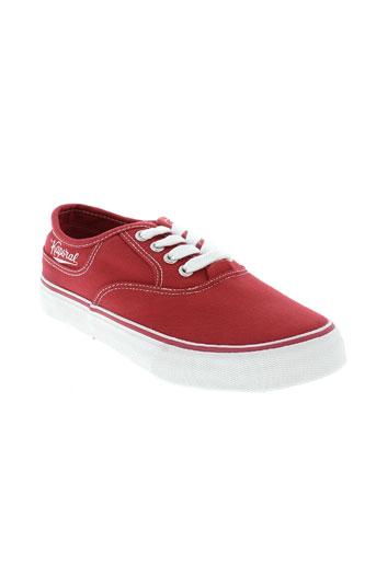 kaporal chaussures garçon de couleur rouge