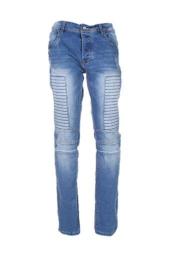 black label jeans homme de couleur bleu