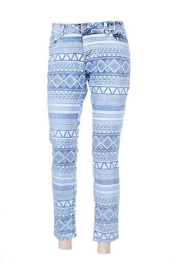 jeans wear jeans femme de couleur bleu