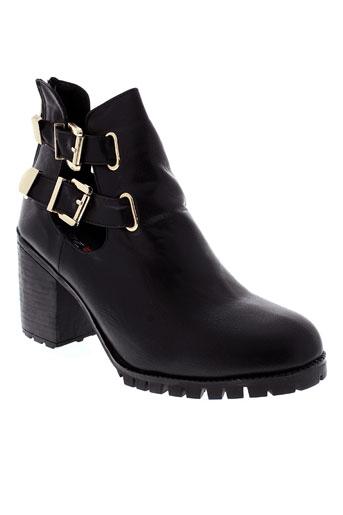 anesia chaussures femme de couleur noir