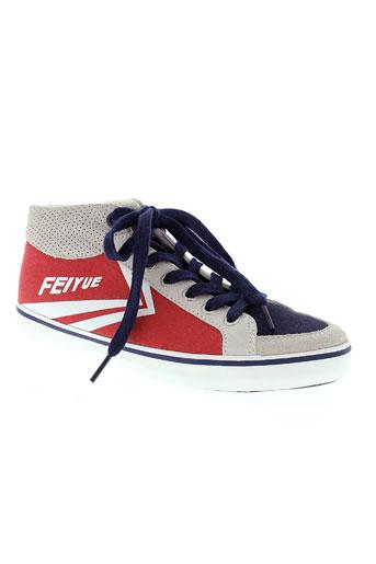 feiyue chaussures garçon de couleur rouge