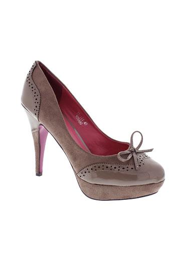 jennika chaussures femme de couleur beige