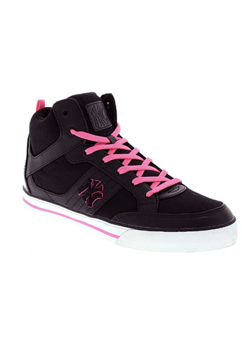 new york yankees chaussures femme de couleur noir