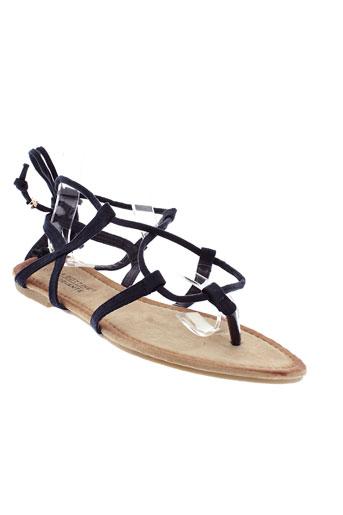 la bottine souriante chaussures femme de couleur bleu