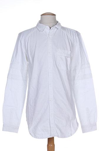 black kaviar chemises homme de couleur blanc
