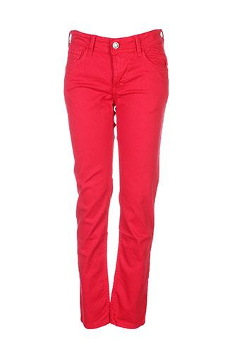 tiffosi pantalons garçon de couleur rouge
