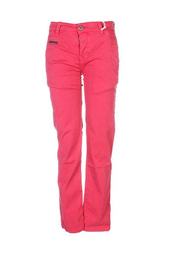 biaggio pantalons garçon de couleur rouge