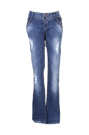 simply chic jeans femme de couleur bleu