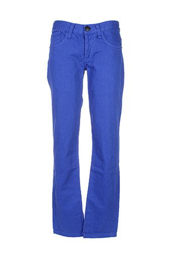kingz pantalons homme de couleur bleu