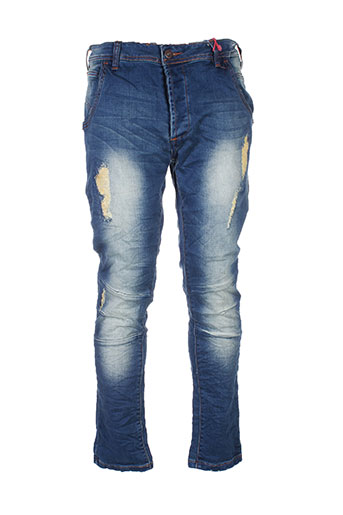 justing jeans homme de couleur bleu