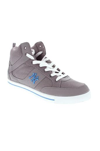 new et york et yankees baskets homme de couleur gris