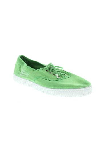 kaporal baskets femme de couleur vert