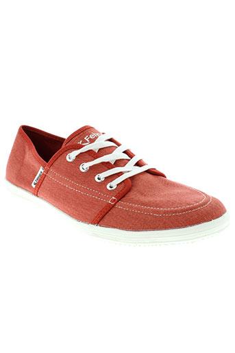 feiyue baskets homme de couleur rouge