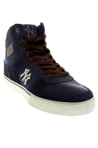 new et york et yankees baskets homme de couleur bleu