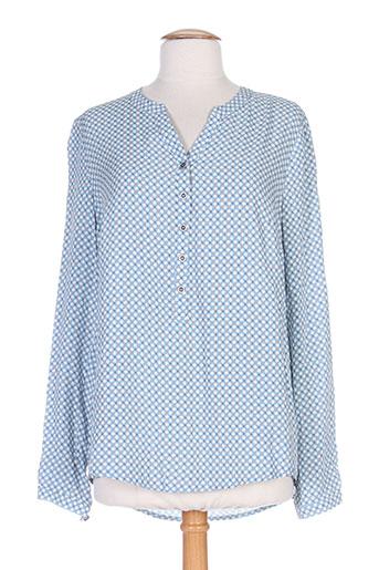 lebek blouses femme de couleur bleu