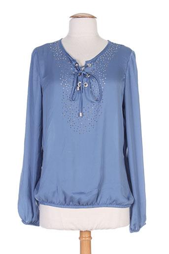 caroline biss chemises femme de couleur bleu