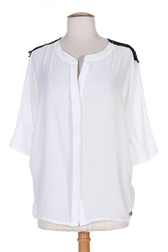 fracomina chemises femme de couleur blanc