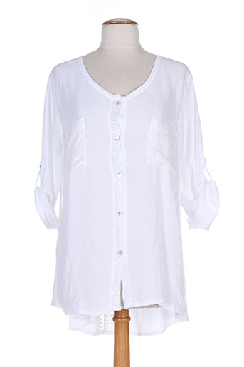 nana nucci chemises femme de couleur blanc