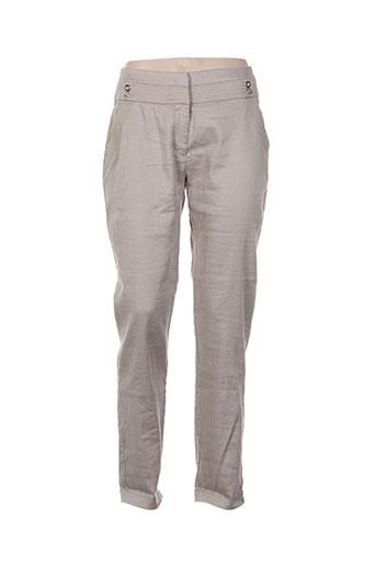 eva kayan pantalons femme de couleur beige