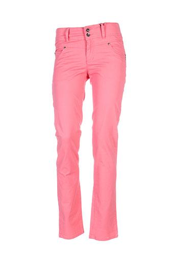 jensen pantalons et decontractes femme de couleur rose