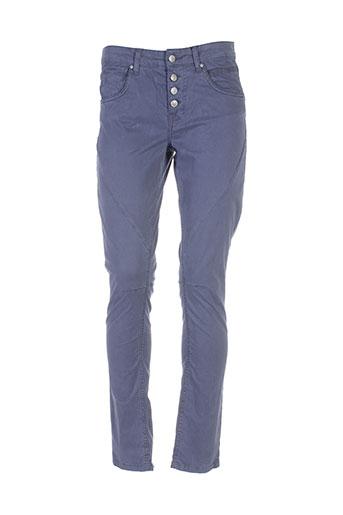 soyaconcept pantalons et decontractes femme de couleur bleu