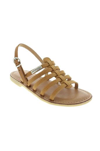 les tropeziennes chaussures fille de couleur beige