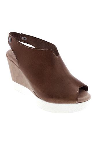 pretty et things et inside sandales et nu et pieds femme de couleur marron