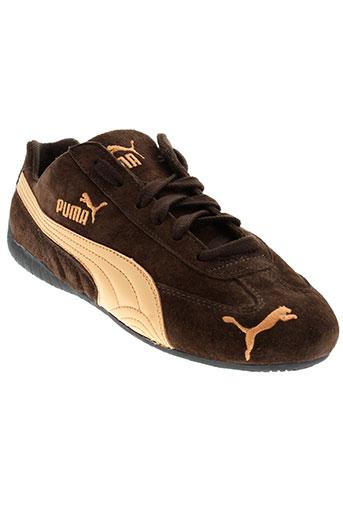 puma baskets fille de couleur marron