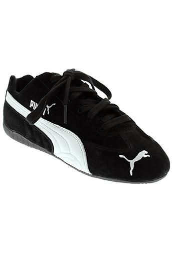 puma chaussures fille de couleur noir