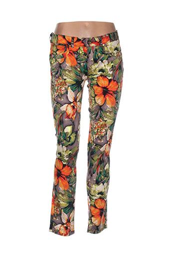 douyoudou pantalons femme de couleur orange