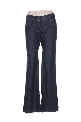 timezone jeans femme de couleur bleu