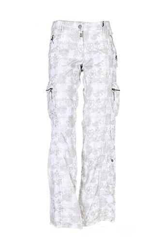 timezone pantalons et decontractes femme de couleur blanc