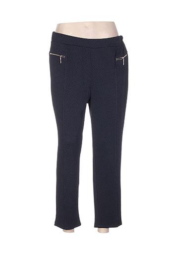 danny pantalons femme de couleur bleu