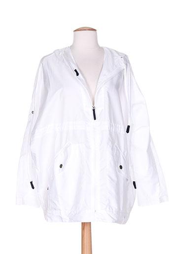 bleu salé manteaux femme de couleur blanc