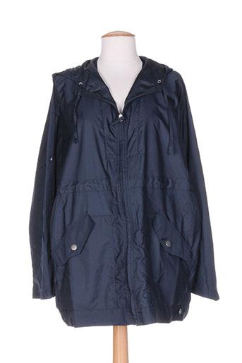 bleu salé manteaux femme de couleur bleu