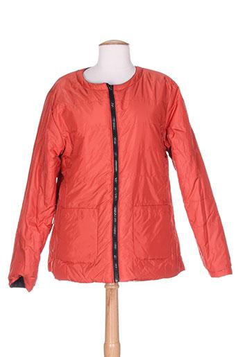bleu salé manteaux femme de couleur orange