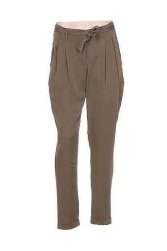 brandtex pantalons et decontractes femme de couleur vert