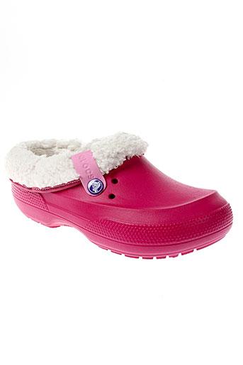 crocs mules et sabots fille de couleur rose
