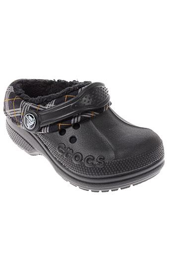 crocs mules et sabots garcon de couleur noir
