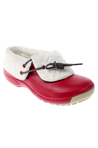 crocs boots homme de couleur rouge
