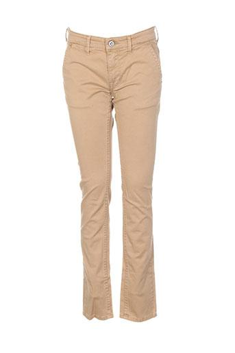 pepe jeans pantalons garçon de couleur beige