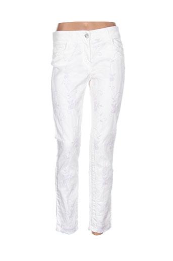elisa et cavaletti pantalons et decontractes femme de couleur blanc