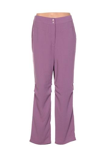 cannisse pantalons femme de couleur violet