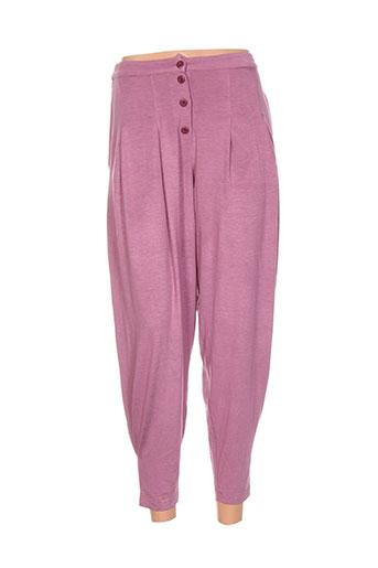 cannisse pantalons femme de couleur rose