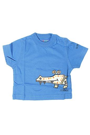 T-shirt manches courtes bleu LA TRIBBU pour garçon