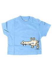 T-shirt manches courtes bleu LA TRIBBU pour garçon seconde vue