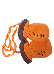 Gants orange LA TRIBBU pour fille seconde vue