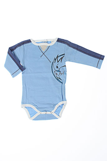Body bleu LA TRIBBU pour garçon