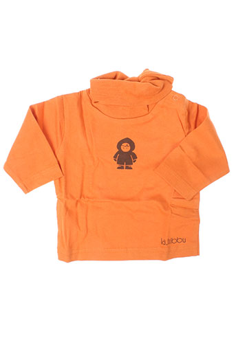 T-shirt manches longues orange LA TRIBBU pour fille